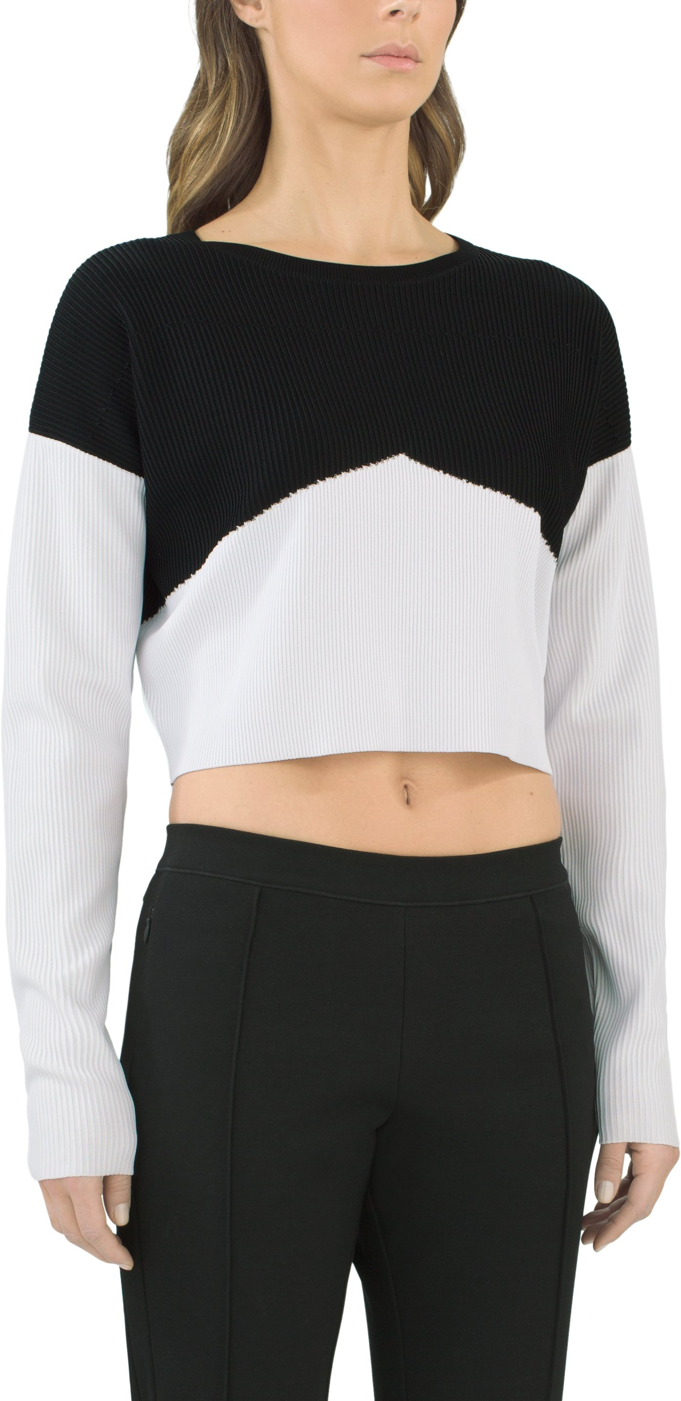 Women's UAS Plated Cropped Sweater, Black