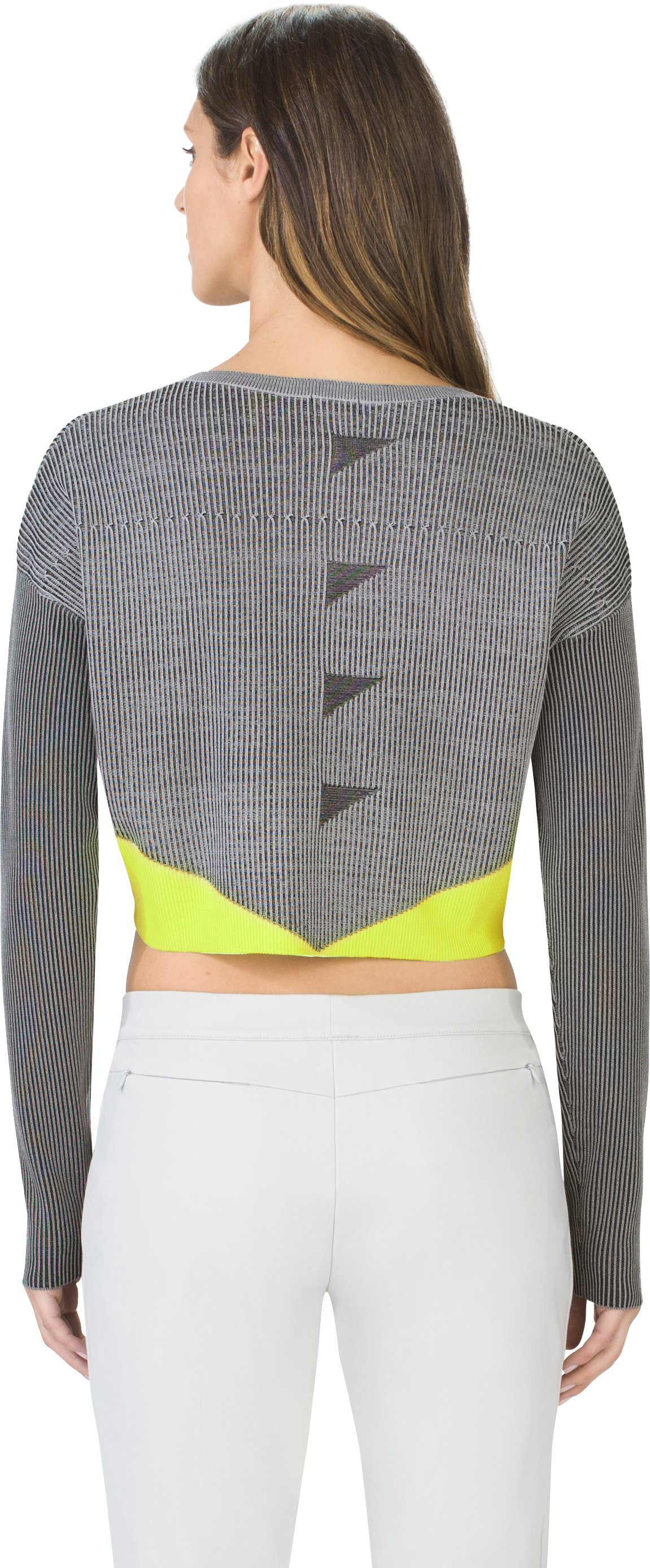 Women's UAS Plated Cropped Sweater, STONE GRAY,