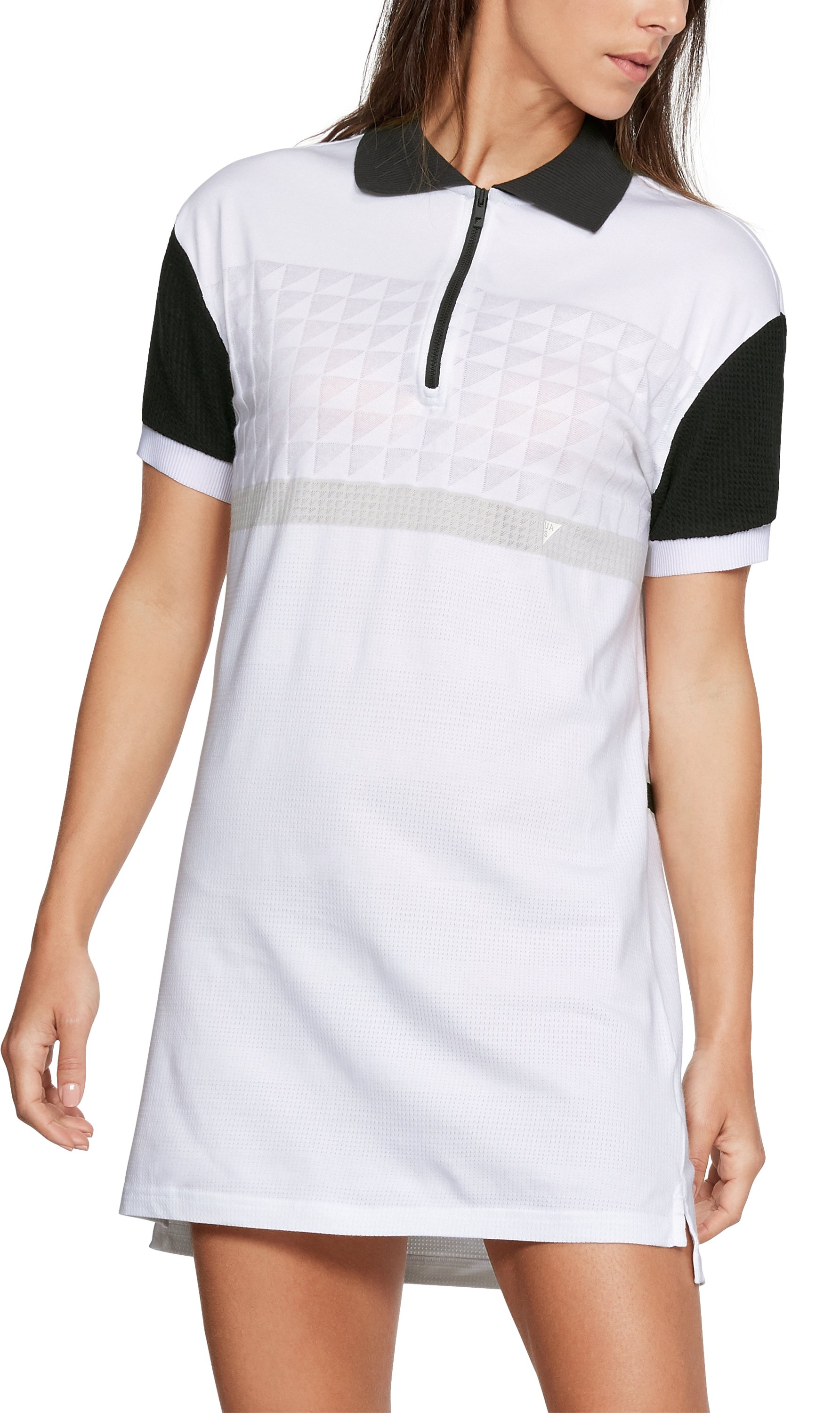 Women's UAS Delta Polo Dress, White