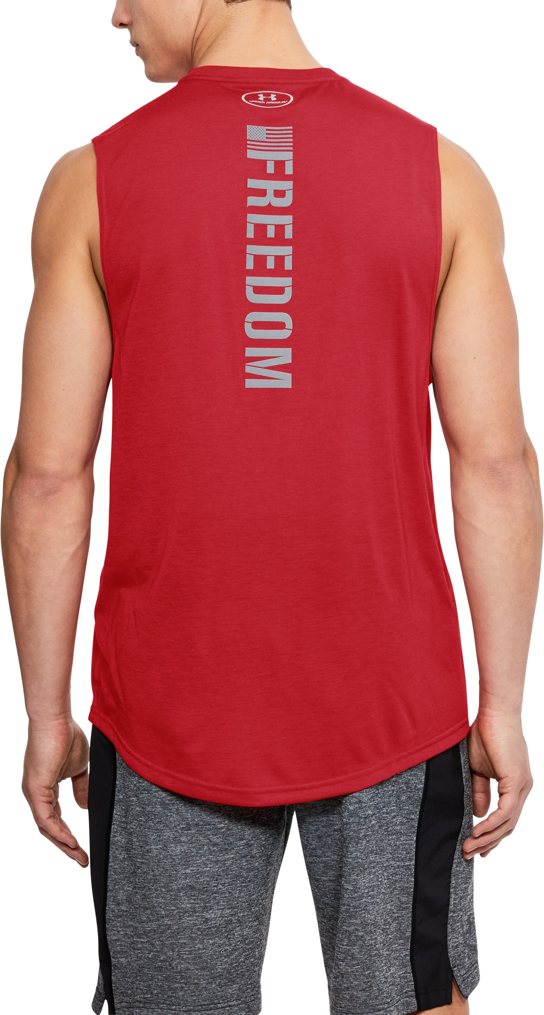 Men's UA Freedom Muscle Tank, Red