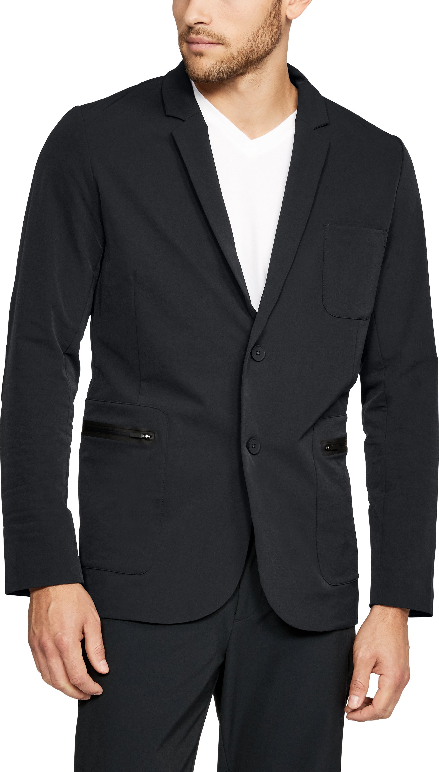 Men's UAS Draftday Crepe Blazer, Black