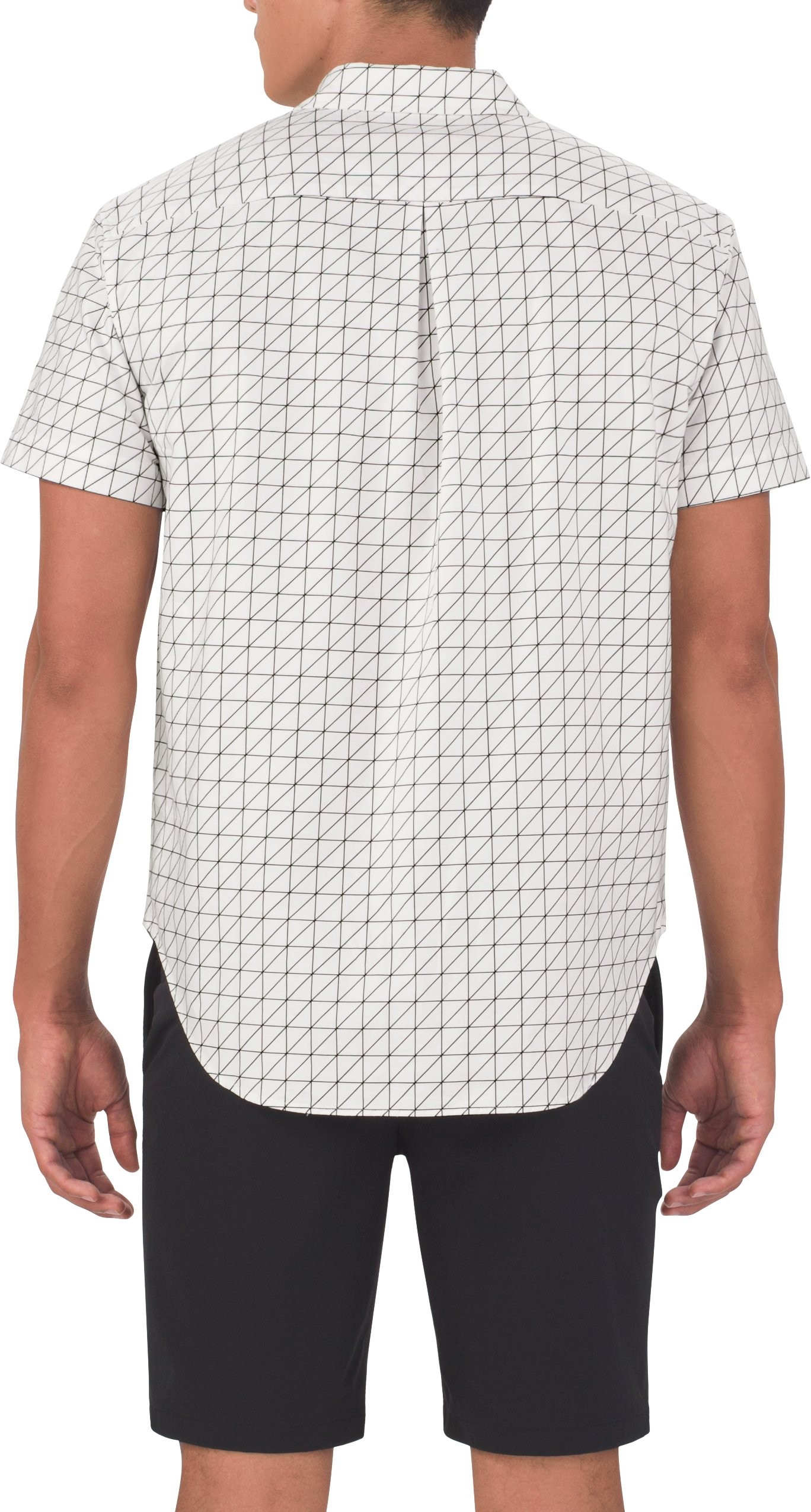 Men's UAS Draftday Pattern Oxford Short Sleeve, White