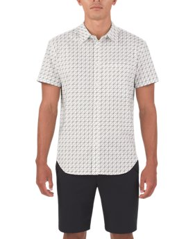 Men's UAS Draftday Pattern Oxford Short Sleeve  1 Color $90
