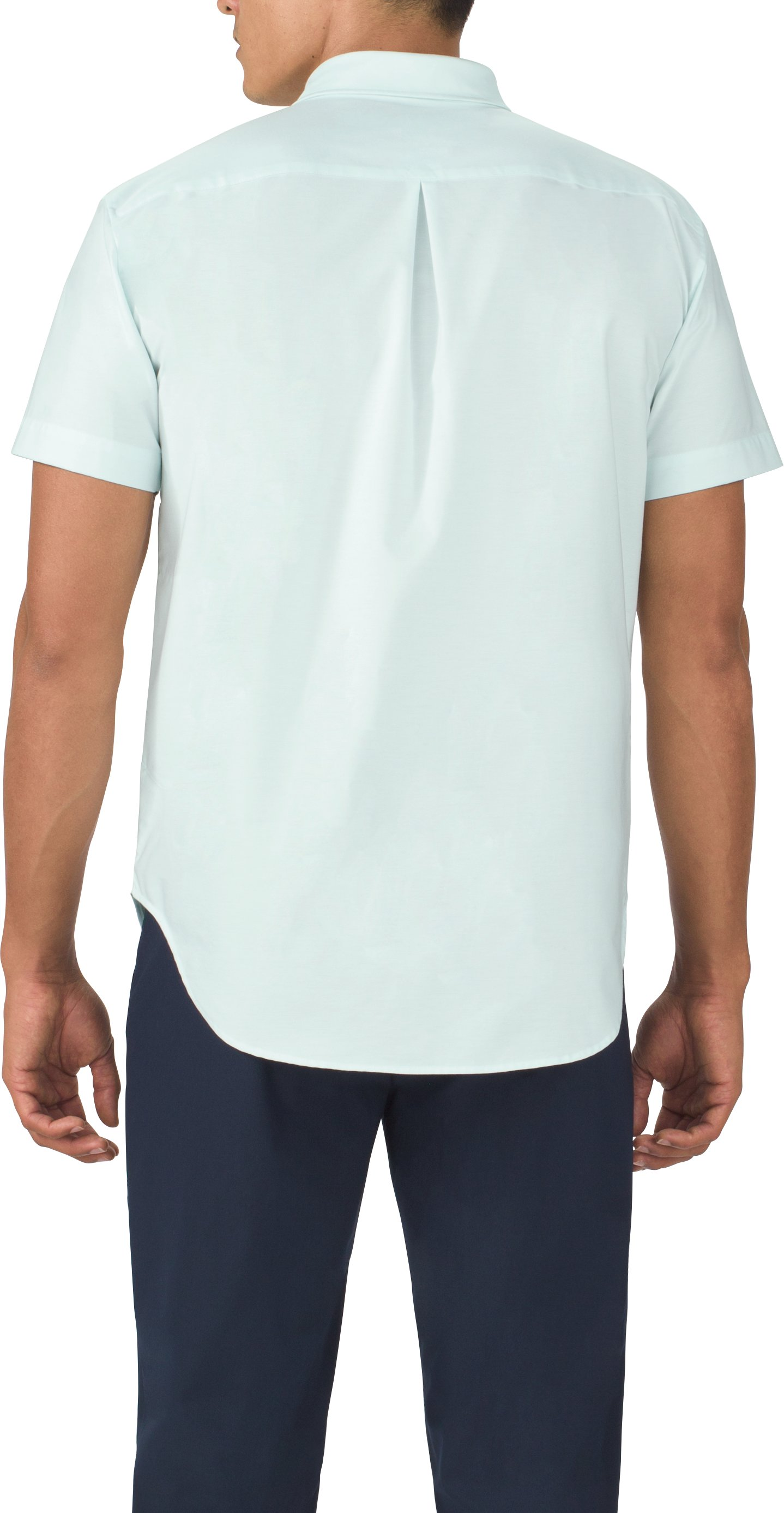 Men's UAS Draftday Oxford Short Sleeve, BABY BLUE, undefined
