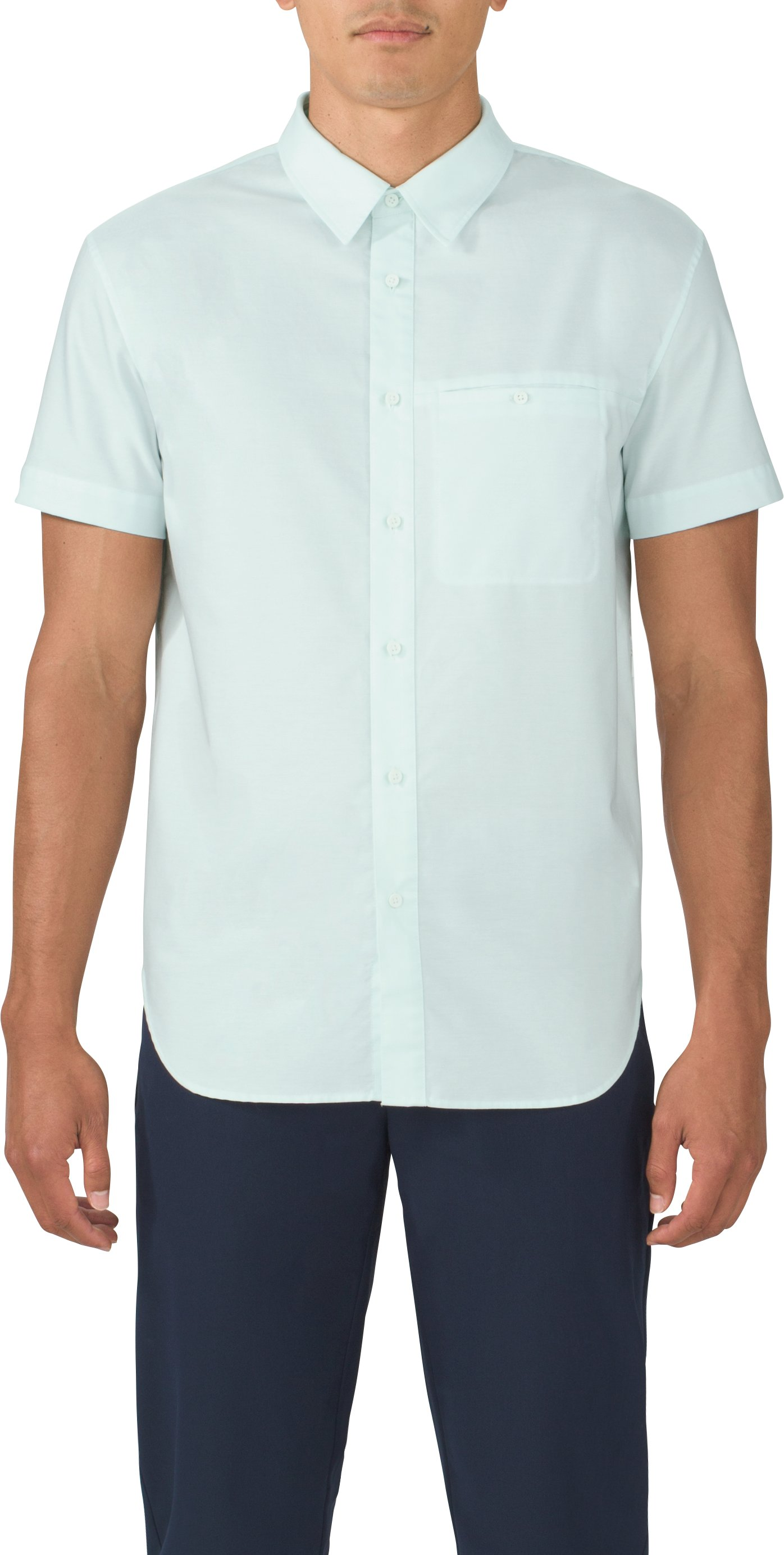 Men's UAS Draftday Oxford Short Sleeve, BABY BLUE