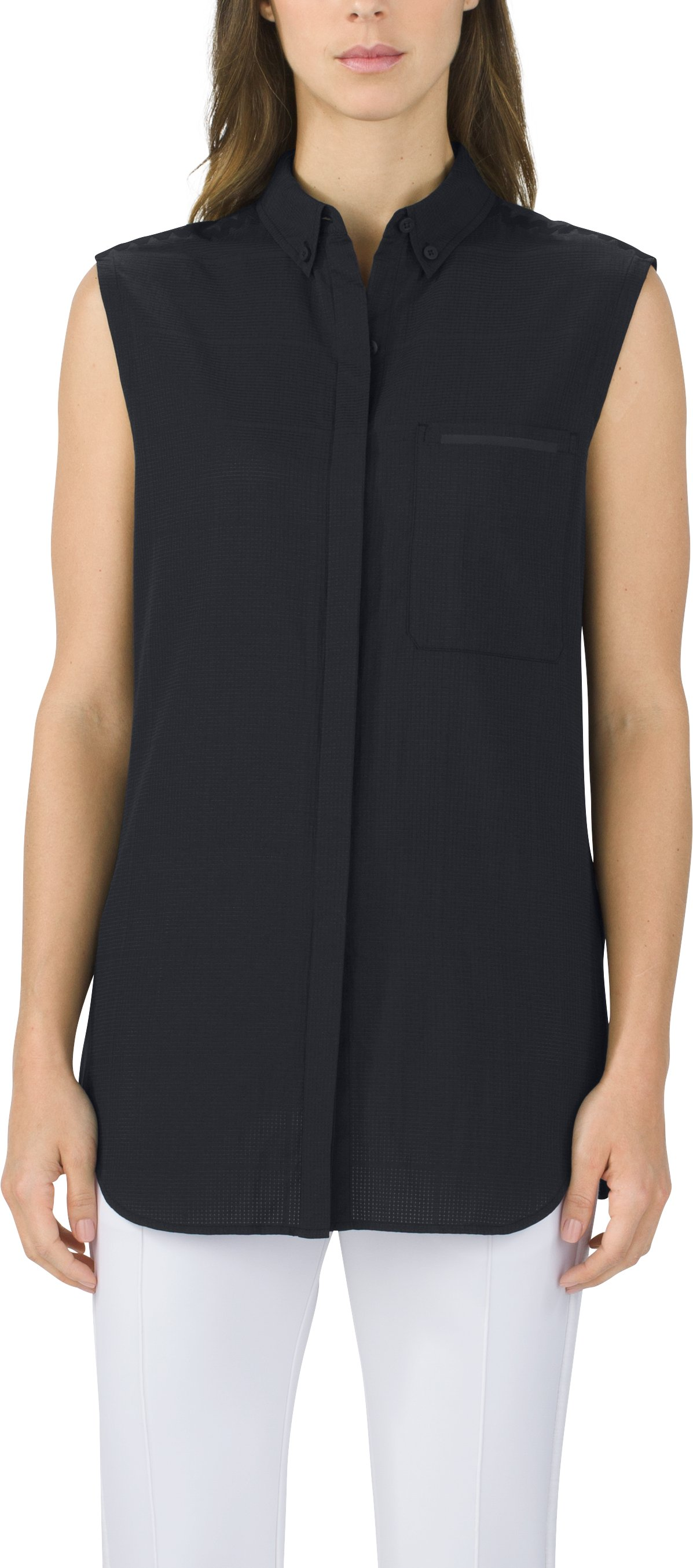 Sleeveless Shirt Solid, Black