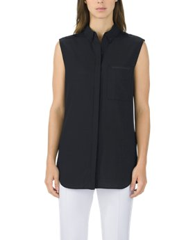 New Arrival Sleeveless Shirt Solid  1 Color $120