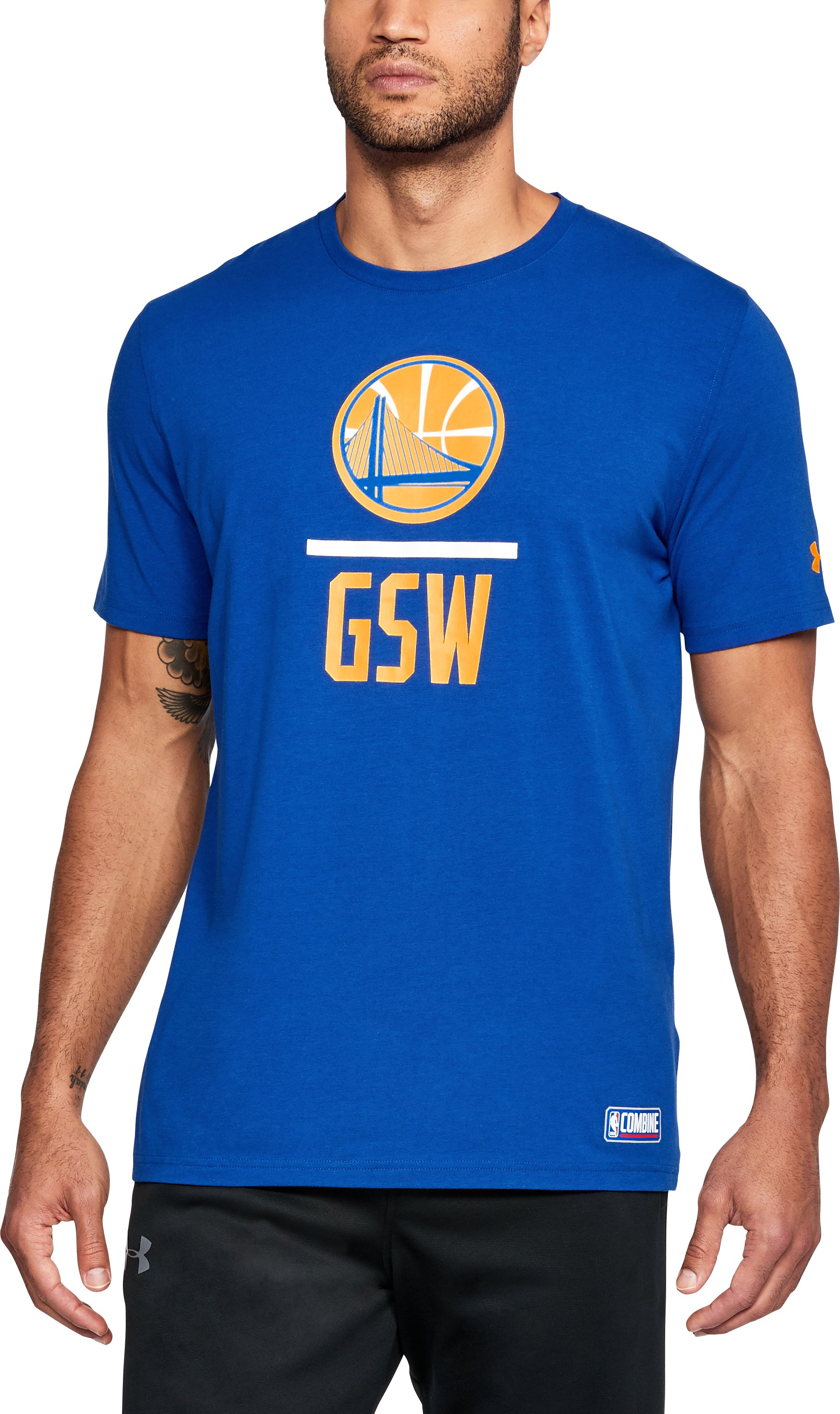 Men's NBA Combine UA Graphic T-Shirt, NBA_GOLDEN STATE WARRIORS_ROYAL, undefined
