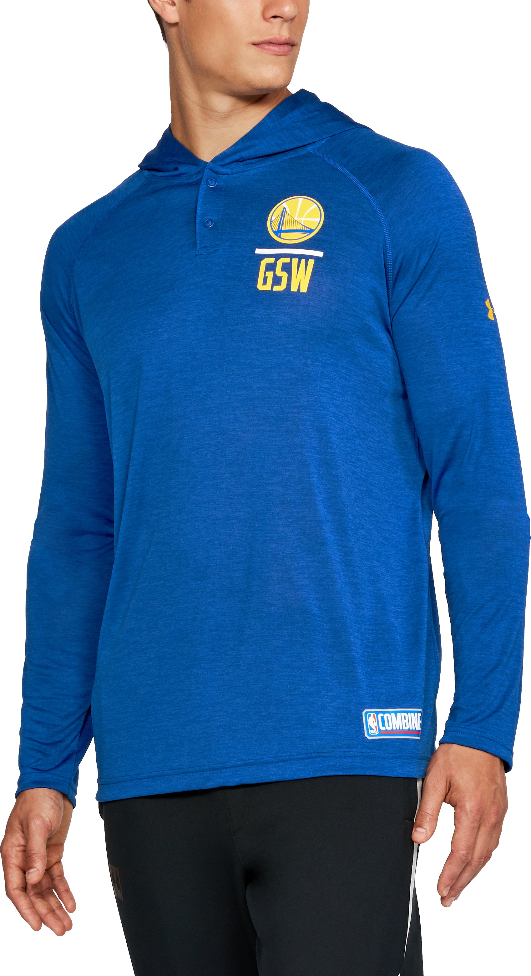 Men's NBA Combine UA Tech™ Printed Hoodie, NBA_GOLDEN STATE WARRIORS_ROYAL,