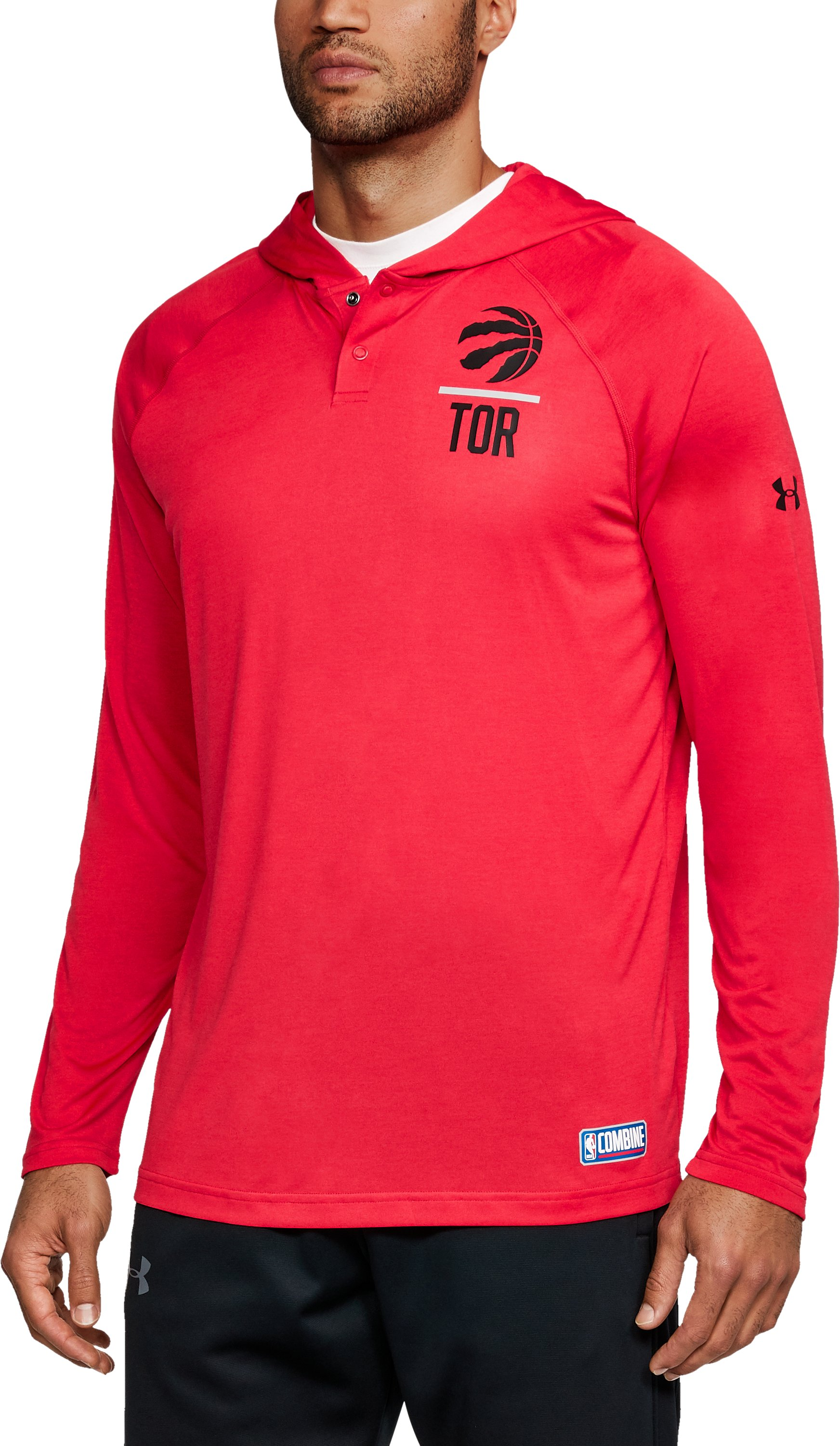 Men's NBA Combine UA Tech™ Printed Hoodie, NBA_TORONTO RAPTORS_RED,
