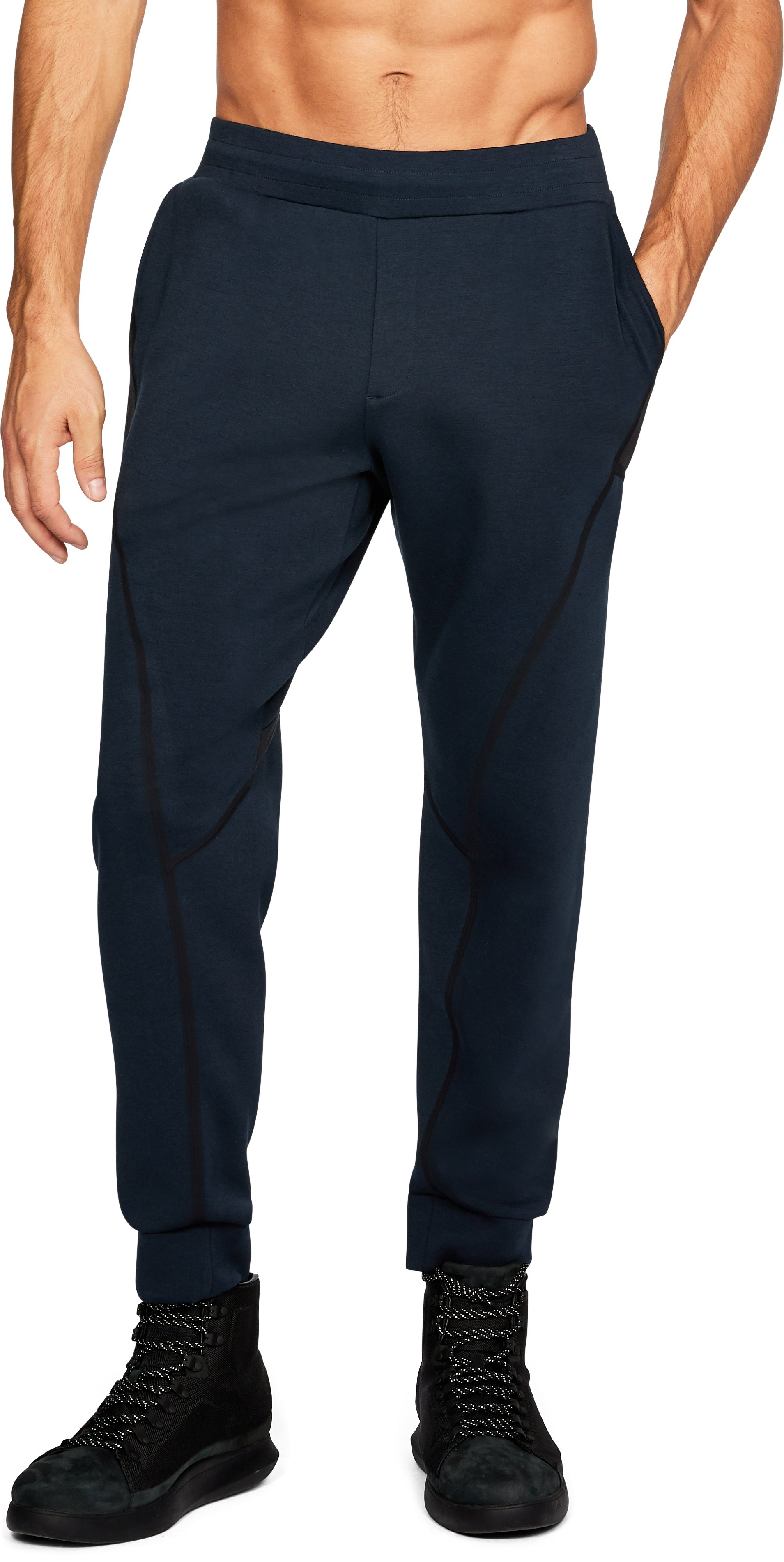 Men's UAS Tailgate Sweatpants, Navy, undefined