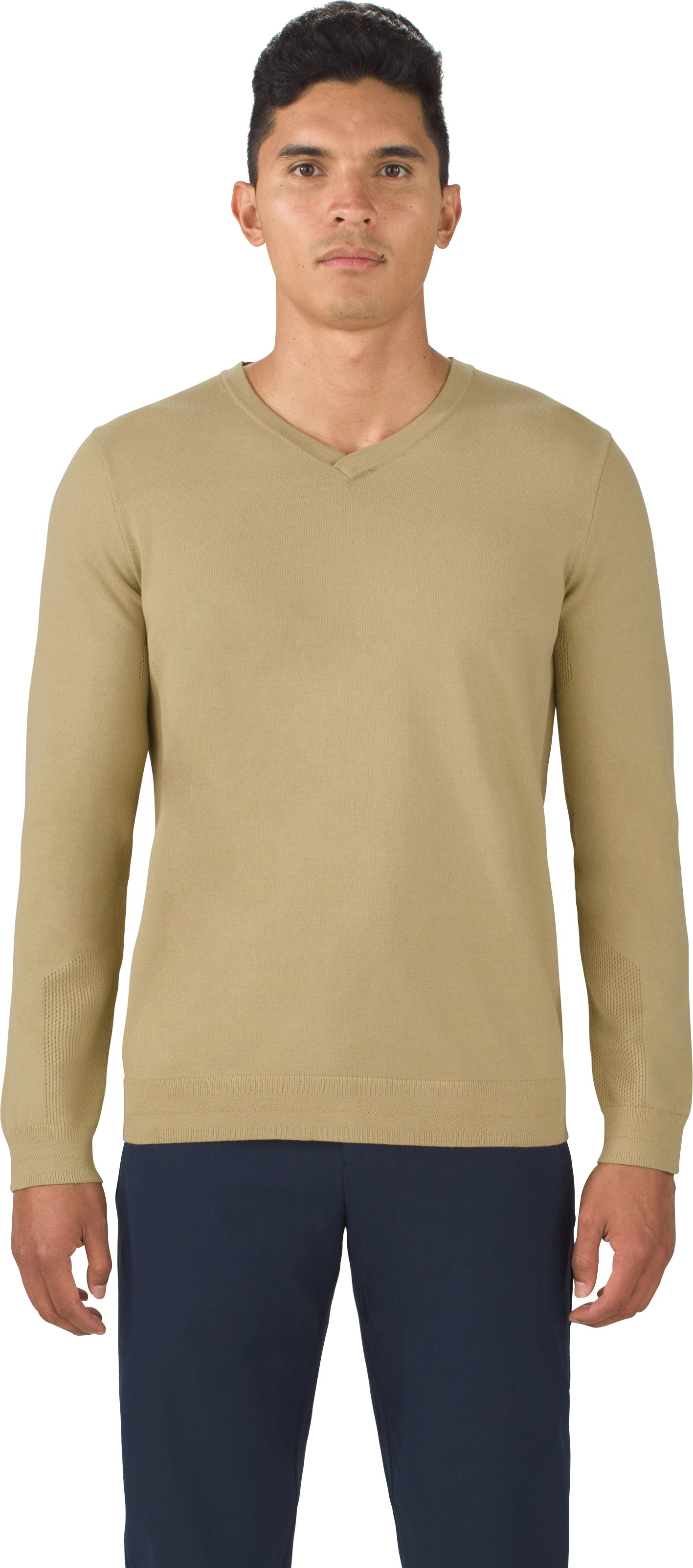 Men's UAS Engineered Knit Sweater, SAND