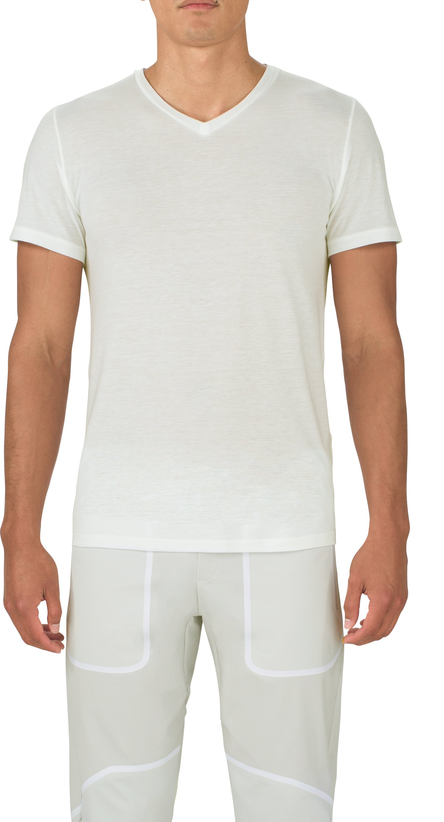 Men's UAS Prime V-Neck, White