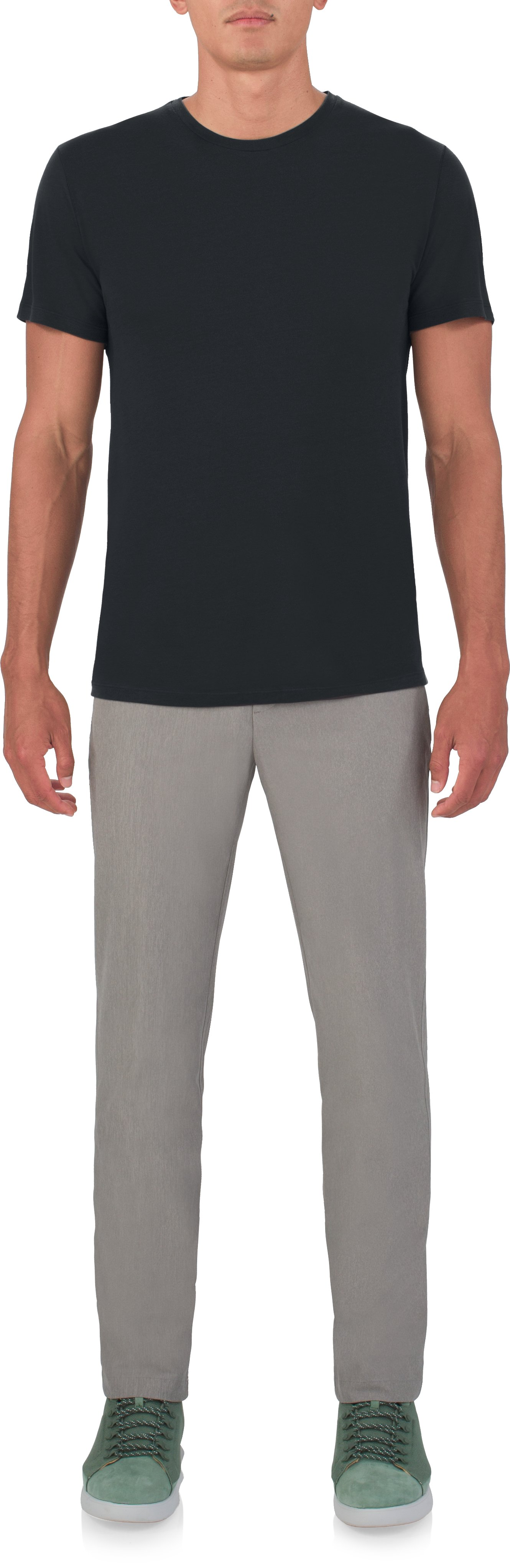 Men's UAS Prime Crew, Black , Front