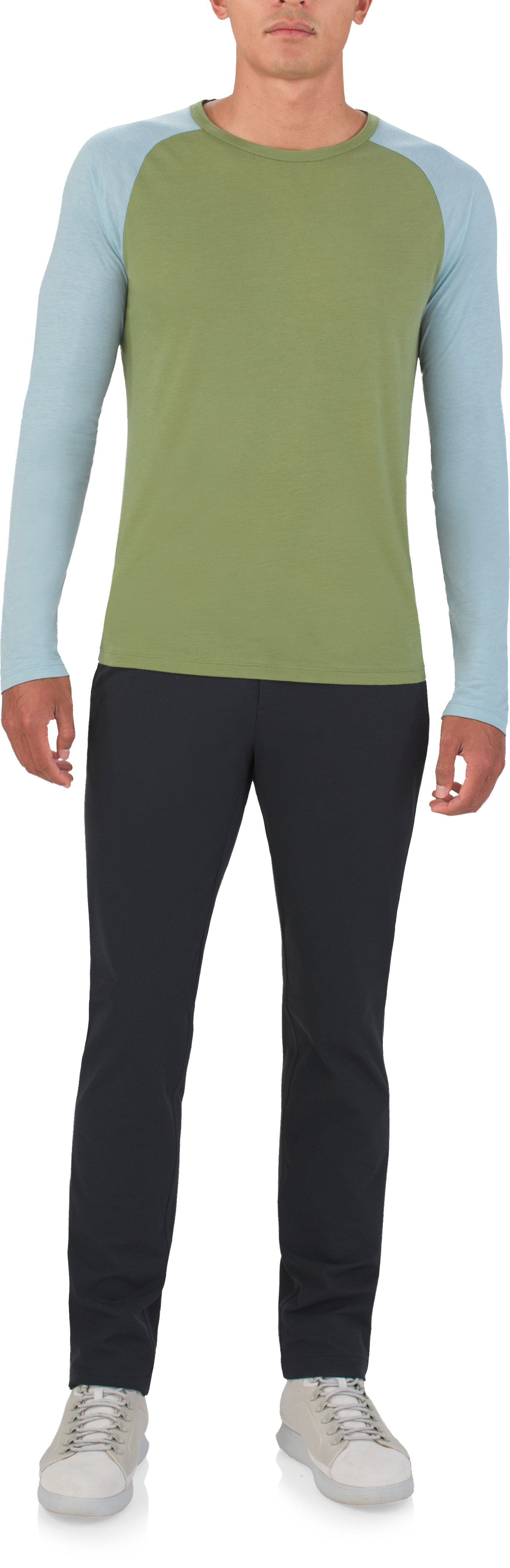 Men's UAS Prime Raglan, MILITARY, Front