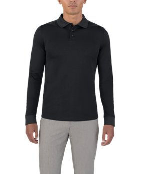 New to Outlet Men's UAS Pique Long Sleeve Polo  1 Color $63.99