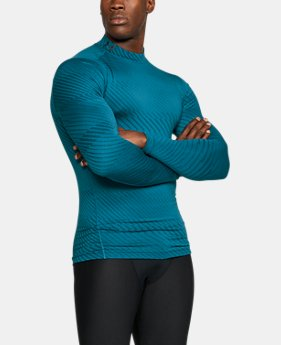 Men's UA ColdGear® Armour Jacquard Compression Mock  2 Colors $44.99