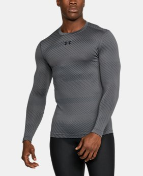 Men's UA ColdGear® Armour Jacquard Compression Crew  1  Color Available $59.99