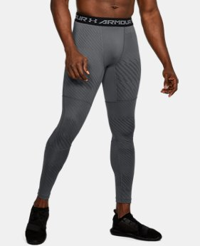 New Arrival Men's UA ColdGear® Armour Jacquard Compression Leggings  1 Color $59.99