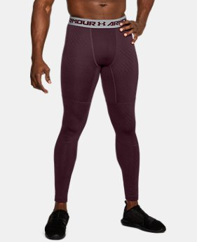 Men's UA ColdGear® Armour Jacquard Compression Leggings  1  Color Available $35.99