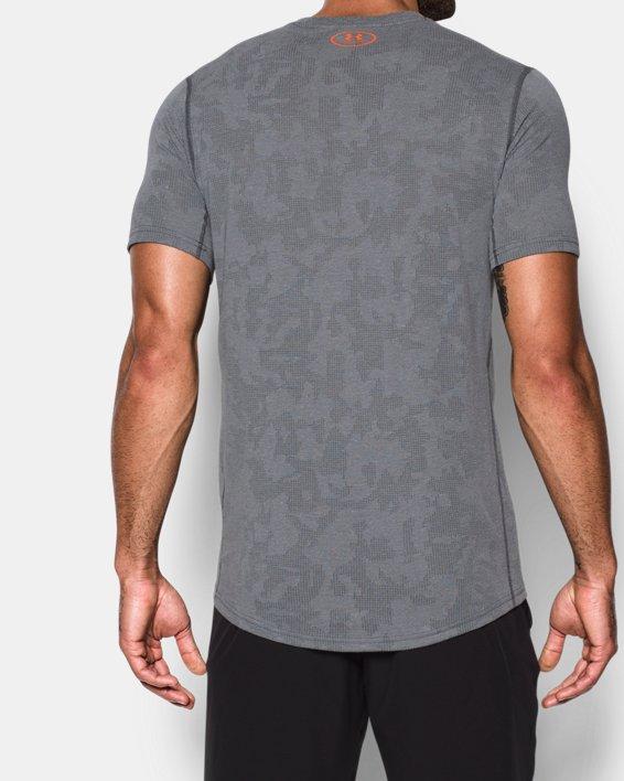 Men's UA Threadborne™ Elite Fitted Shorts Sleeve, Gray, pdpMainDesktop image number 2