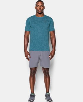 Men's UA Threadborne™ Elite Fitted Shorts Sleeve  1 Color $24.49
