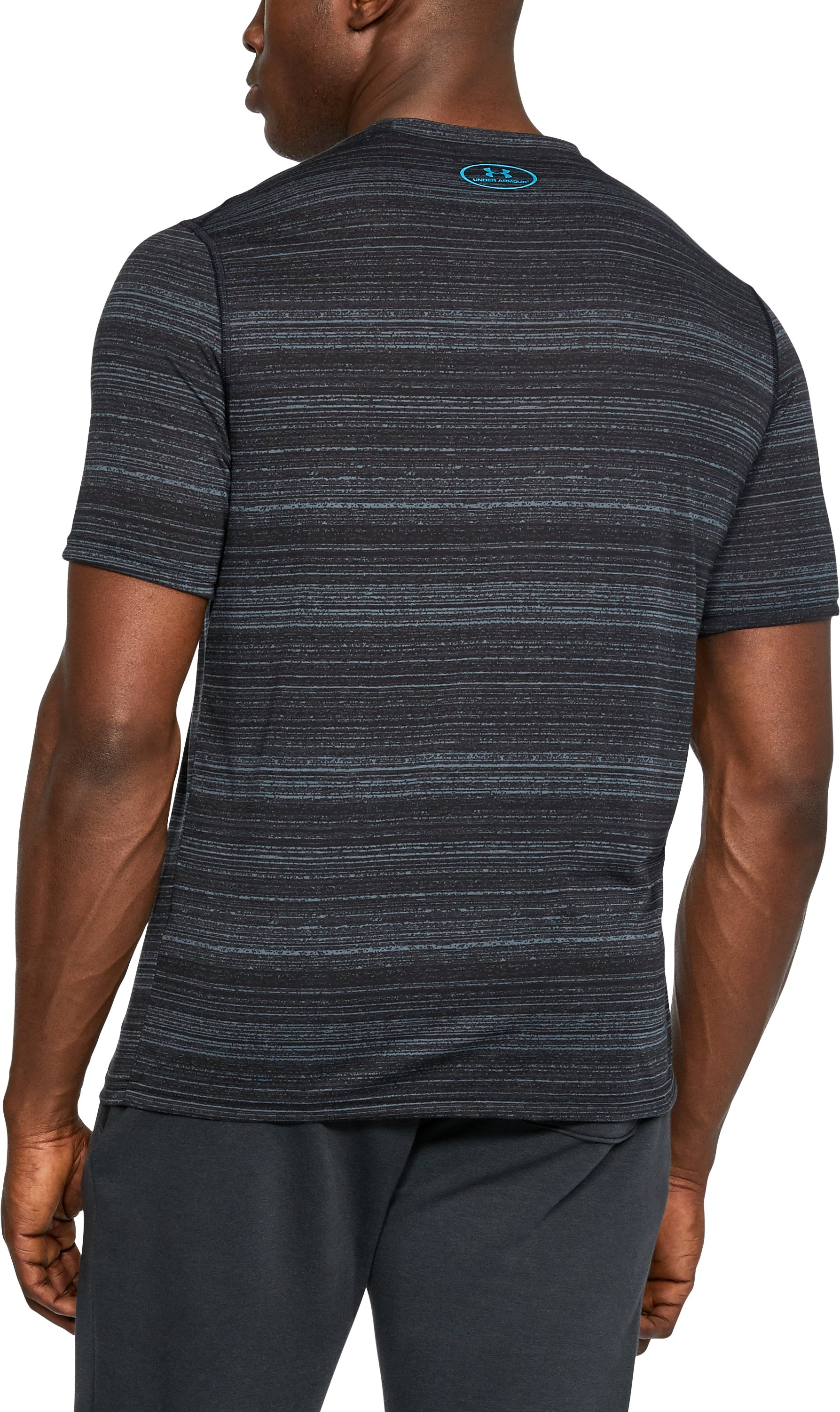 Men's UA Threadborne™ Elite Twist Shorts Sleeve, STEALTH GRAY,