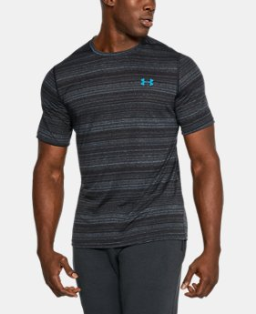 Men's UA Threadborne™ Elite Twist Shorts Sleeve  2 Colors $22.49