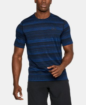 New Arrival Men's UA Threadborne™ Elite Twist Shorts Sleeve  1 Color $29.99