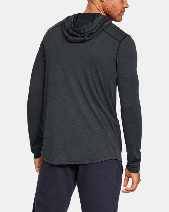 Men's UA Threadborne™ Knit Fitted Hoodie, Black, pdpMainDesktop image number 4