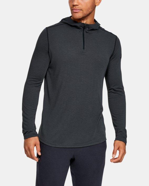 Men's UA Threadborne™ Knit Fitted Hoodie, Black, pdpMainDesktop image number 0