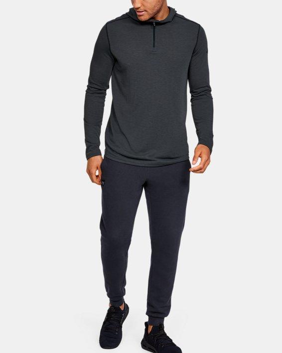 Men's UA Threadborne™ Knit Fitted Hoodie, Black, pdpMainDesktop image number 3