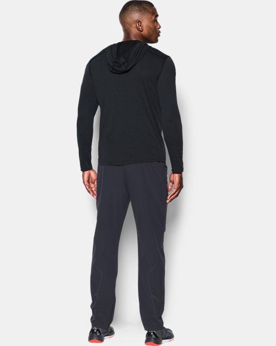 Men's UA Threadborne™ Knit Fitted Hoodie, Black, pdpMainDesktop image number 1