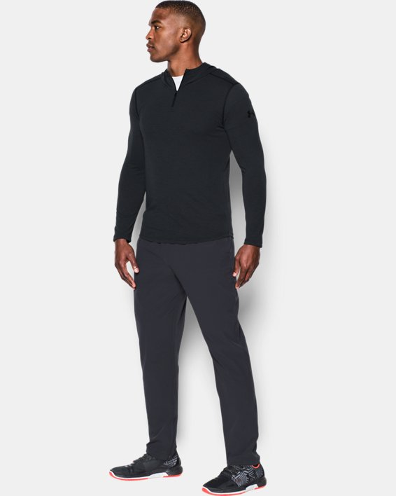Men's UA Threadborne™ Knit Fitted Hoodie, Black, pdpMainDesktop image number 2