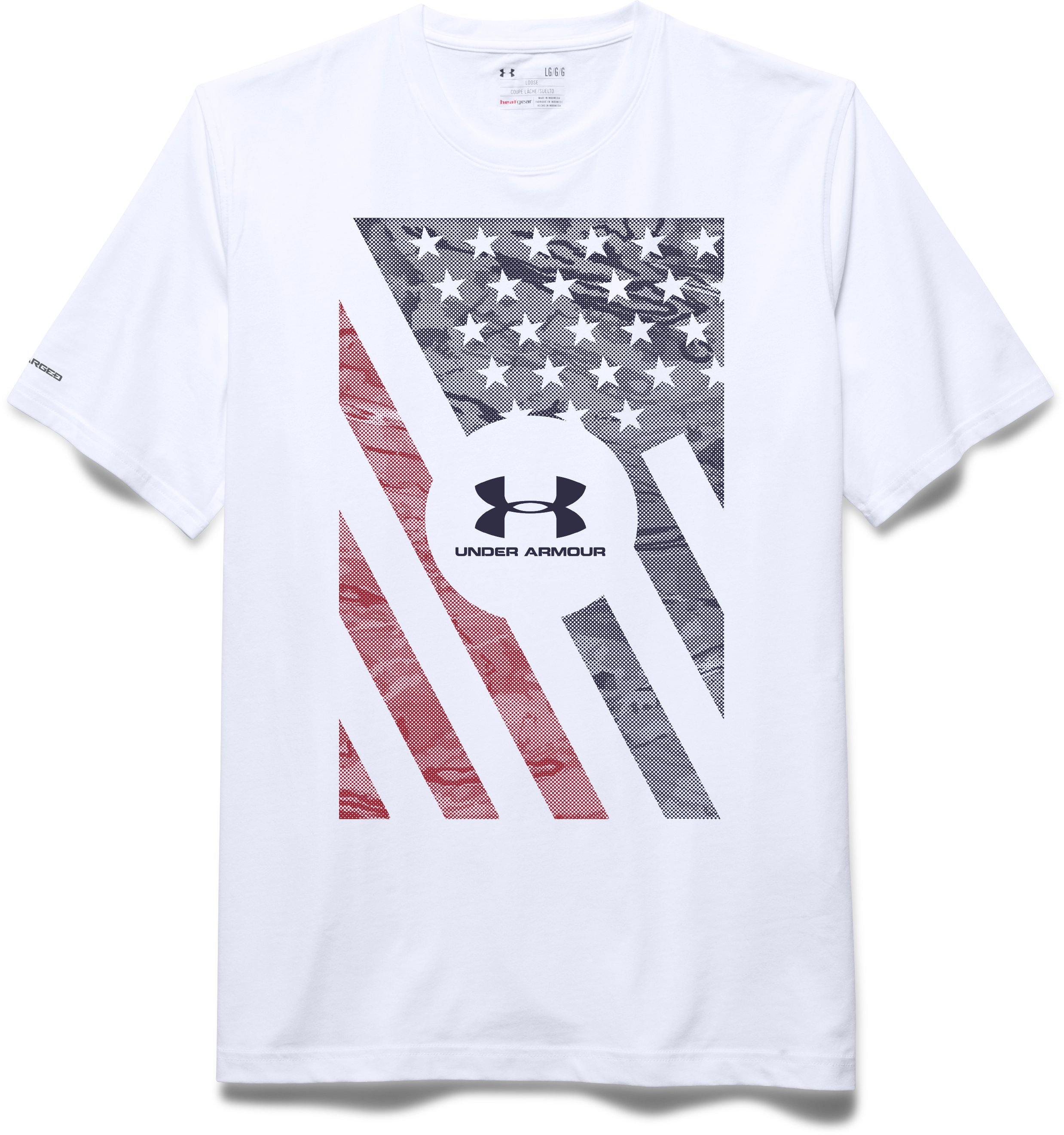 Men's UA USA Flag T-Shirt, White, Laydown
