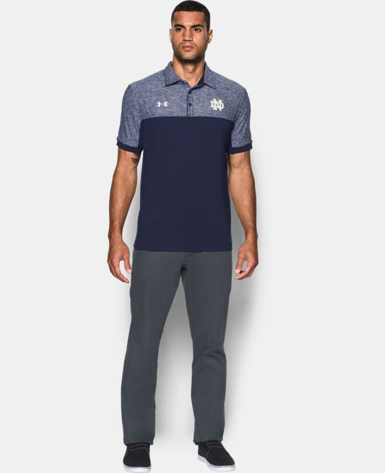 Men's Notre Dame UA Polo LIMITED TIME: FREE U.S. SHIPPING 1 Color $69.99