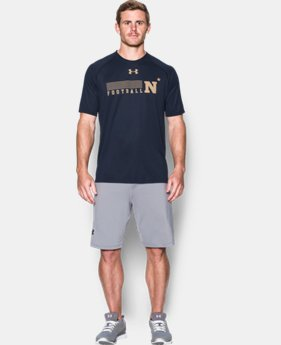 New Arrival Men's Navy UA Tech™ Sideline T-Shirt LIMITED TIME: FREE SHIPPING 1 Color $29.99