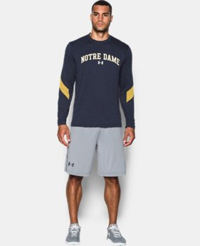 Men's Notre Dame UA Microthread Long Sleeve T-Shirt    $44.99
