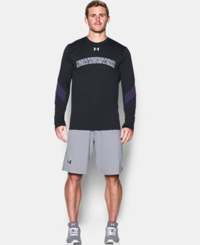 New Arrival Men's Northwestern UA Microthread Long Sleeve T-Shirt LIMITED TIME: FREE SHIPPING 1 Color $44.99