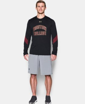 New Arrival Men's Boston College UA Microthread Long Sleeve T-Shirtee LIMITED TIME: FREE SHIPPING 1 Color $44.99