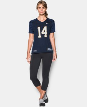 Women's Notre Dame UA Replica Football Jersey  1 Color $54.99