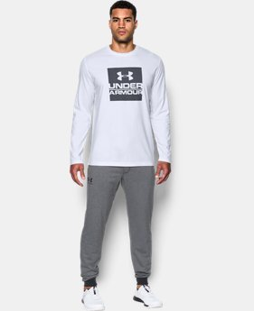 New Arrival  Men's UA Boxed In Long Sleeve T-Shirt  1 Color $26.24 to $34.99