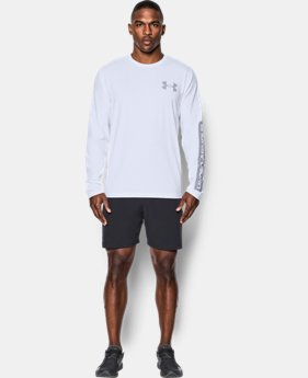 New Arrival  Men's UA Sleeve Hit Long Sleeve T-Shirt  1 Color $34.99