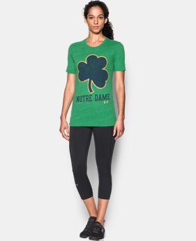 New Arrival Women's Notre Dame UA Charged Cotton® Tri-Blend T-Shirt  1 Color $29.99