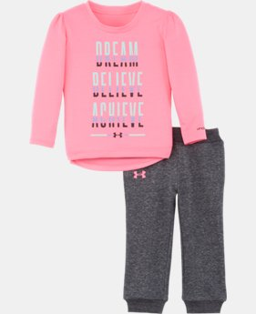 New Arrival Girls' Newborn UA Dream Believe Achieve Set LIMITED TIME: FREE U.S. SHIPPING  $34.99