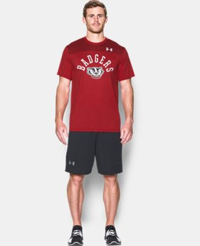 New Arrival Men's Wisconsin UA Tech™ CB T-Shirt  LIMITED TIME: FREE SHIPPING  $39.99