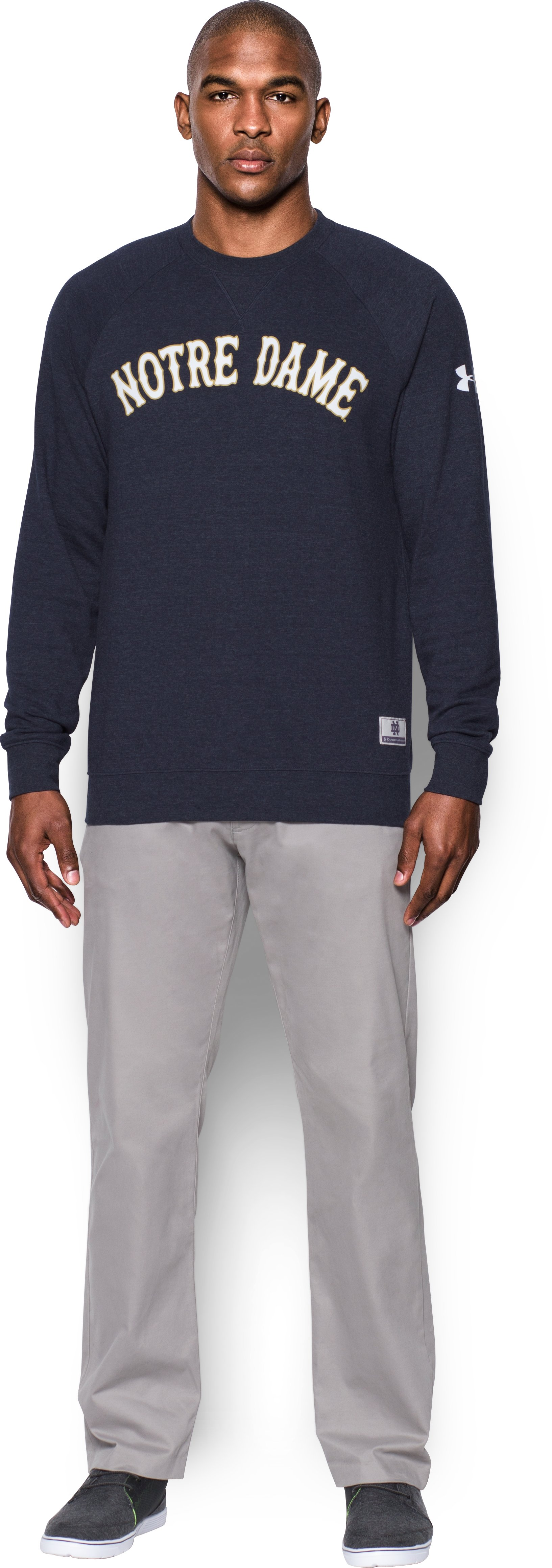 Men's Notre Dame UA Iconic Sweatshirt, Midnight Navy, zoomed image