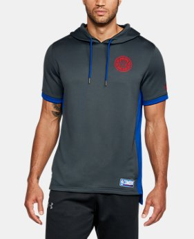New Arrival Men's NBA Combine UA Baseline Short Sleeve Hoodie   $70