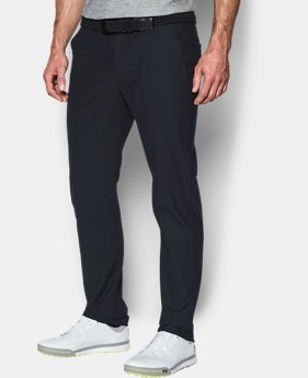 New to Outlet Men's UA Threadborne Tour Tapered Pants  1  Color Available $74.99