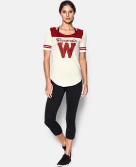 Women's Wisconsin UA Iconic Collection Jersey T-Shirt LIMITED TIME: FREE U.S. SHIPPING  $39.99